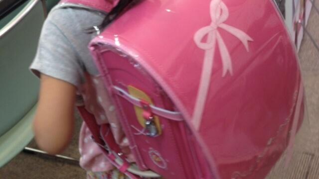 ピンク色のランドセル